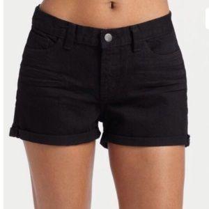 J Brand Cosmos Black Denim Cuffed Shorts Size 24